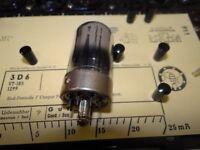 End-Pentode 3D6 = 1299 Röhre 13 mA Tube Valve auf Funke W19 geprüft BL1426