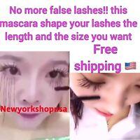 3D Fiber Eyelash Mascara Extension - Black Gel - Natural Fiber Free Shipping USA
