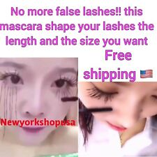 3D Fiber Eyelash Mascara Extension - Black Gel - Natural Fiber Free Shipping USA