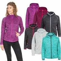 Trespass Riverstone Womens Full Zip Fleece Hoodie in Blue Purple & Grey