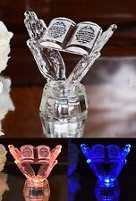 Crystal Cut Colour LED  Quran in Hand Ramadan Allah Allahu Islamic EID Gift
