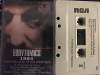 EURYTHIMICS 1984 (FOR THE LOVE OF BIG BROTHERS) CASSETTE