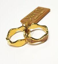 Anello doppio Alviero Martini pelle Geo gold plated ref. JPC M800/77 misura 18