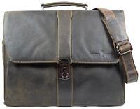 Greenwood Aktentasche Lehrertasche Bürotasche Laptoptasche Businesstasche Leder