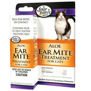 Four Paws Aloe Ear Mite Treatment Cat .75oz