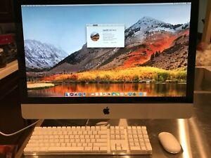 """Apple iMac 27""""2010 i7-870 16GBRAM 1TBHD 250GBSSD DVD Apple accessories Look GOOD"""