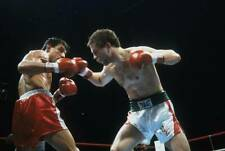 Old Boxing Photo Bobby Czyz Moves In For The Punch Against Mustafa Hamsho