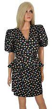 Vintage 80s 2pc PEPLUM DRESS Mini Skirt Suit HUGE Shoulder Pads Costume Party 6