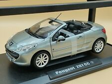 1/18 Peugeot 207 Coupé Cabriolet CC Gris Roland Garros 2010 Norev ref: 184810