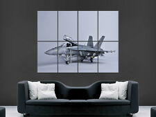 CF 18 HORNET FIGHTER JET MILITARY POSTER PICTURE WALL IMAGE  ART PRINT LARGE