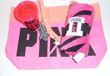 Victoria's Secret Pink Limited Edition Beach Tote + Towel + Tumbler Mini Dog NWT