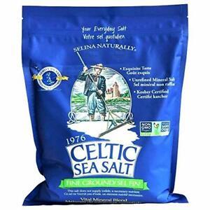Fine Ground Celtic Sea Salt – (1) 5 Pound Bag of  Assorted Sizes , Styles , *s