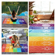 Colorful Chakra Wall Hanging Tapestry Yoga Mat Beach Towel Blanket Home Decor