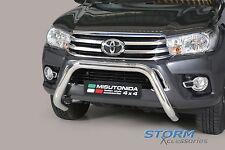 Toyota Hilux MK8 2016> Misutonida S/Steel EU Front Bar, Bull Bar, Nudge Bar 76mm