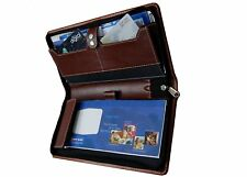 Brown Expendable Passbooks And Cheque Book Holder/Document Holder/Cards All In O