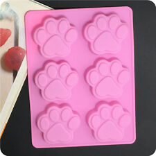 6- Cavity Baking Silicone Bear Paw Pan Dog Paw Mold Cake Mold Cookie Mold