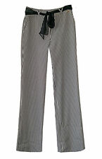 NEW, with tags Striped fabric pants by St. John Sport Chiffon belt sz 6 USA