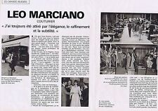 COUPURE DE PRESSE CLIPPING 1978 LEO MARCIANO  (3 pages)