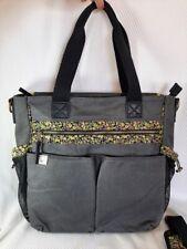 Peek LIBERTY Black 100% Cotton Canvas Diaper Bag w/Shoulder Strap