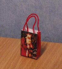 1/12 dolls house miniature Christmas Gift Bag / Carrier paper shop groceries LGW