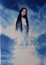 SARAH BRIGHTMAN * LA LUNA TOUR PROGRAMME * 2001 * HTF! * A WHITER SHADE OF PALE