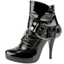 Women's Black High Heel Rhinestone Ankle Boots Size 9