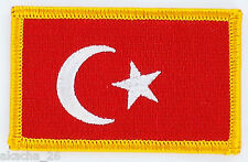 PATCH ECUSSON BRODE DRAPEAU TURQUIE INSIGNE THERMOCOLLANT NEUF FLAG PATCHE