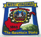 WEST VIRGINIA STATE MAP (3-1/8') Biker Patch PM6749 EE