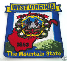 *** WEST VIRGINIA STATE MAP *** Biker Patch PM6749 EE