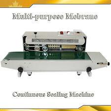 110V Horizontal Continuous Sealing Machine Sealer Plastic Bag-Make Membrane Film