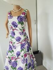 LAURA ASHLEY GORGEOUS FIT&FLARE SUMMER OCCASION DRESS GENEROUS SIZE 14 BEAUTIFUL