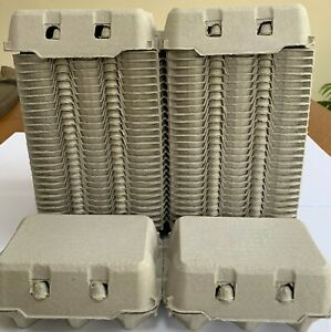 50 HALF DOZEN 'FLAT TOP' EGG BOXES SUITABLE FOR LABELS  UP TO LARGE EGGS (NEW)