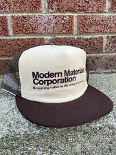Vintage Modern Materials Corp Mesh Snapback Hat Building Construction Supply