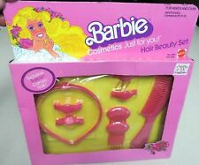VINTAGE 1981 MATTEL BARBIE COSMETICS JUST FOR YOU HAIR BEAUTY SET #5088 NIB