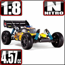 REDCAT Hurricane XTR 1/8 Scale 4X4 Nitro RC Buggy 2.4ghz Remote Yellow Flame