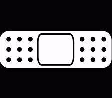 Band Aid 2x bandage Sticker Decal Vinyl JDM Drift ill window lowered White