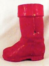 Santa Claus Boot Candy Container Red Pressed Cardboard Vintage Antique #4
