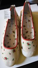 Marc Jacobs Womens Canvas Flats Rose Design New W Tags Size 10