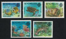 Seychelles Fish Turtle Coco-de-Mer Corals Crayfish Marine Life 5v SG#404A=411A