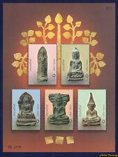 2005 THAILAND ANCIENT BUDDHA AMULET STAMP SOUVENIR SHEET SC#2178 PERF MNH