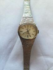 Vintage Hamilton Electronic Swiss Silver Tone Band Ladies Quartz Watch