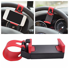 Car Steering Wheel Phone Mount Clip Socket Holder Stand Cradle for GPS iPhone 4