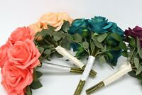 MADE IN USA-Wedding Artificial Rose bouquet Greenery bridal bridesmaid