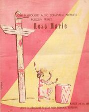 1950 John Burroughs High School Burbank CA Music Dept ROSE MARIE Program