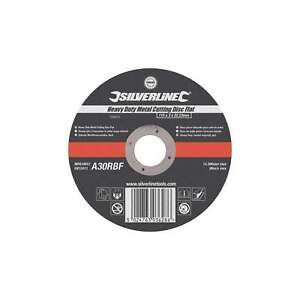 Silverline 115 x 3 x 22.2mm Heavy Duty Metal Cutting Disc Flat Power - 103610
