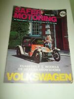 VOLKSWAGEN SAFER MOTORING January 1975 Vintage Illustrated Magazine + Adverts