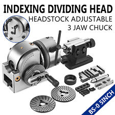 AC Racing BS-0 5 inch Indexing Dividing Head Adjustable 3-Jaw Chuck