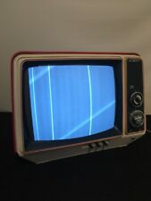 Rare Vintage Red GE General Electric Solid State TV