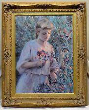"""Stunning Estate Found Vintage Stark """"Suzanne in the Garden"""" Art-Transversion"""