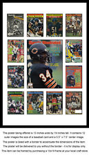 Chicago Bears Sports Illustrated Cover Collection Poster - Walter Payton, et al